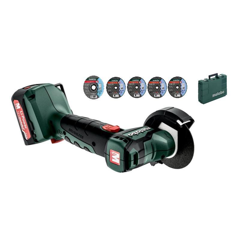 12V Akku Winkelschleifer Set PowerMaxx CC 12 BL | 2x Akku 2,0 Ah