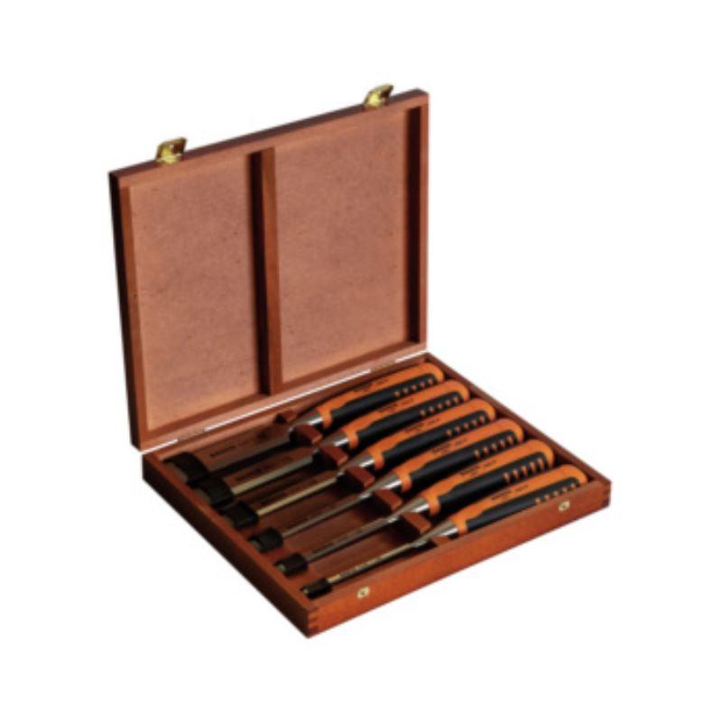 Stechbeitelsatz 6-teilig mit Kunststoffheft- 6, 10, 12, 16, 20, 26 mm