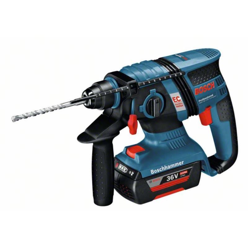 Akku-Bohrhammer GBH 36 V-EC Compact mit 2x 2,0 Ah Akku L-BOXX