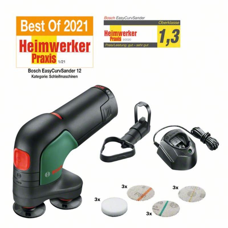12V Akku-Tellerschleifer & Polierer EasyCurvSander 12 | 1x Akku 2,5 Ah