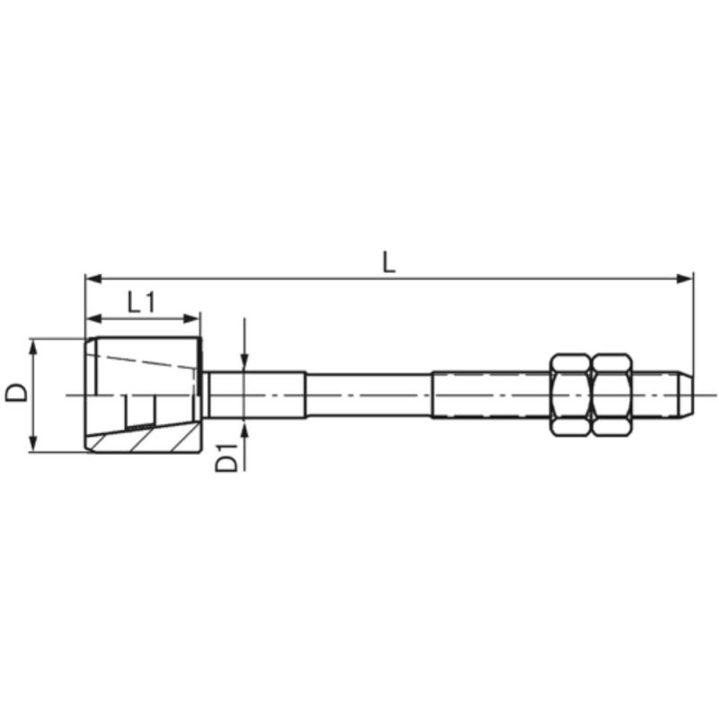 Führungszapfen komplett Größe 4 18 mm GZ 2401800