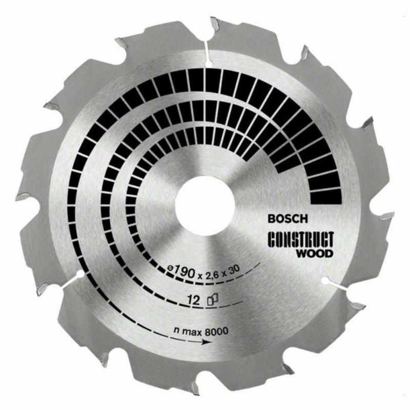 Kreissägeblatt Construct Wood, 190 x 30 x 2,6 mm,