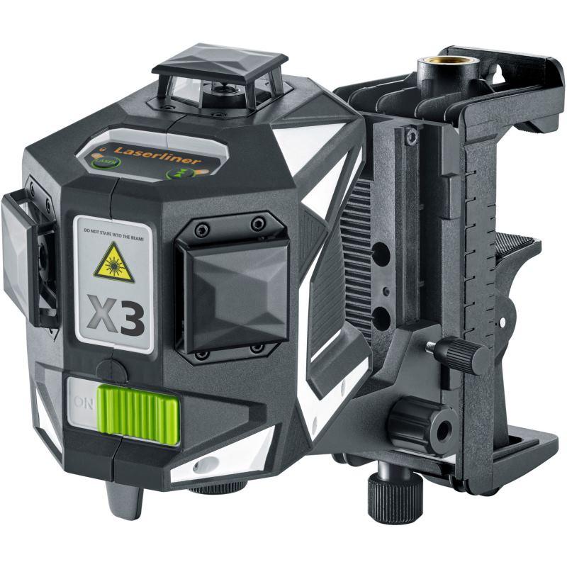 Kreuzlinienlaser X3-Laser Pro (CrossGrip Plus;L-Boxx, 2. Akku 4.500)