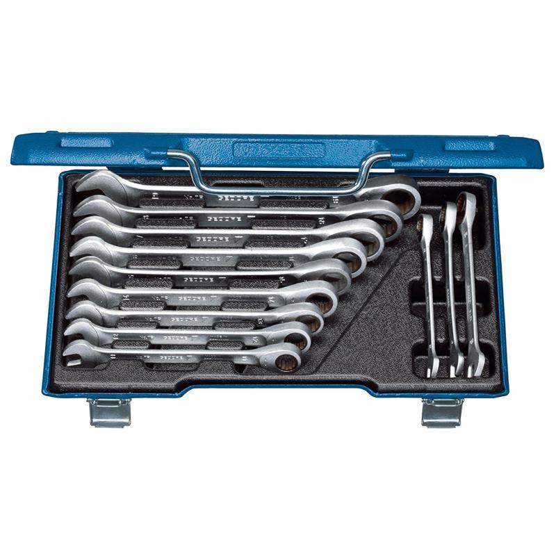 Maulschlüssel mit Ringratsche 12.-tlg 8 - 19 mm U