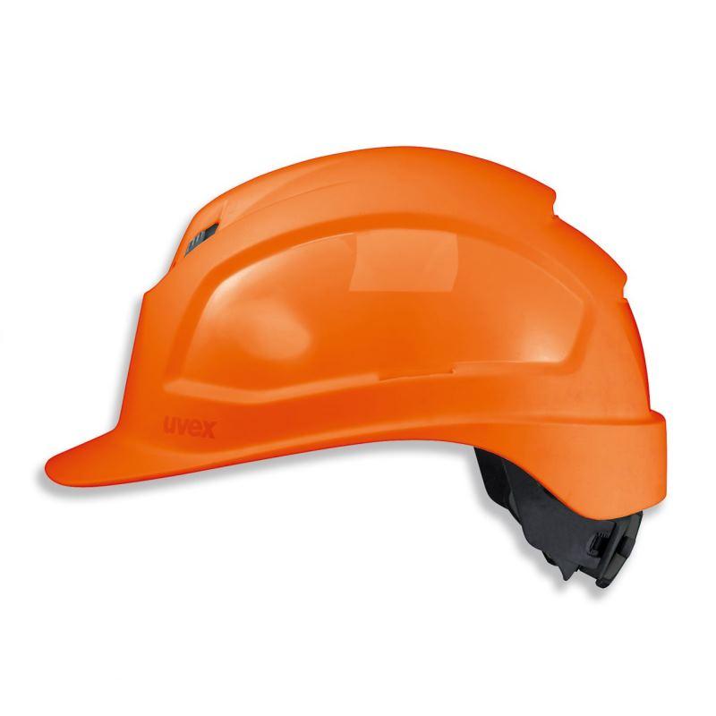 Schutzhelm pheos IES Farbe orange mit Belüftung