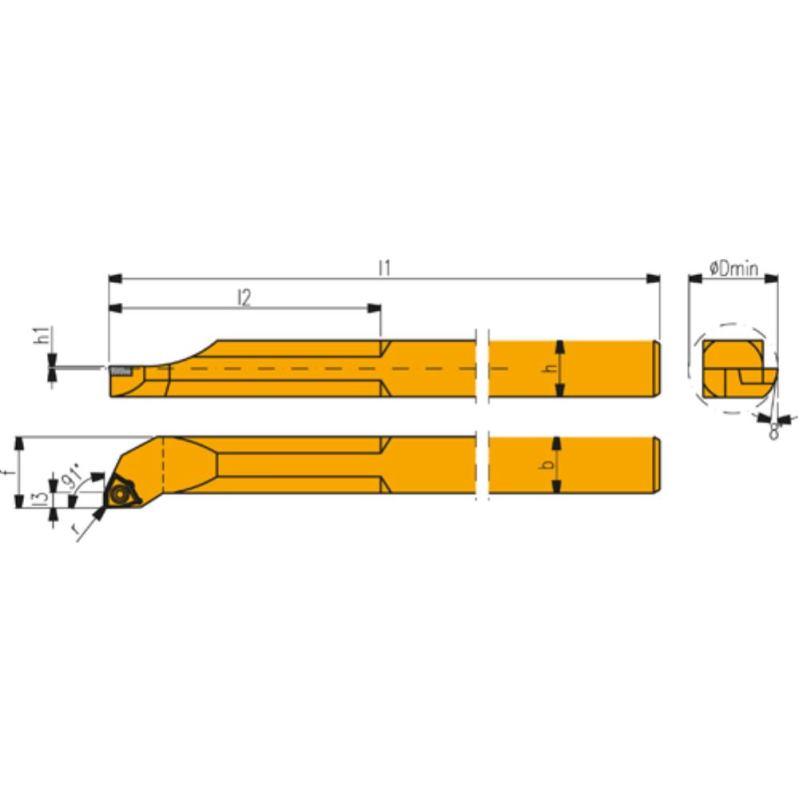 UNISIX Bohrstangen UBN 2-810 FR 38