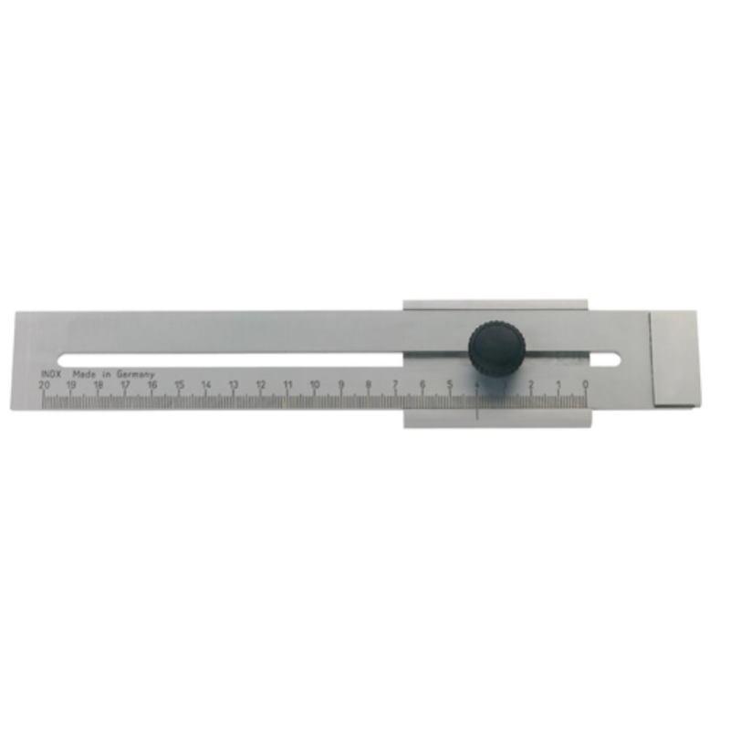 Streichmaß mattverchromt 300 mm
