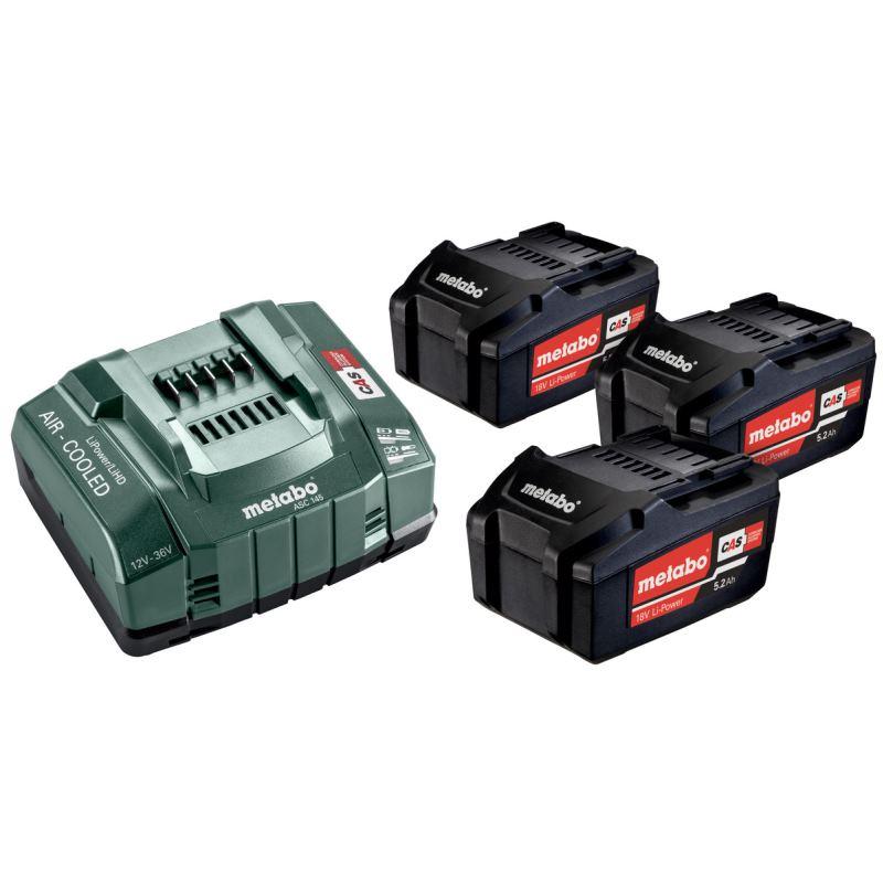 18V Ersatzakku 3 x 5.2 Ah + Ladegerät Basic-Set