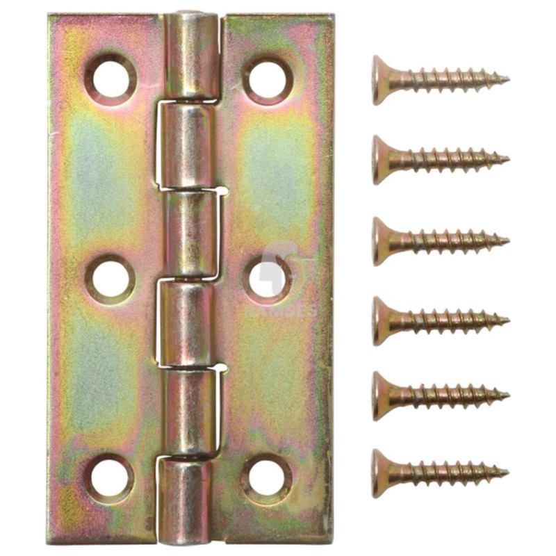 Gerolltes schmales Scharnier 60 x 34 x 1.4 mm Stahl verzinkt 1 Stück