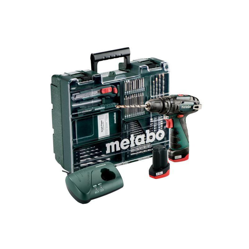 10,8V Akku-Schlagbohrmaschine PowerMaxx SB Basic Set | 2xAkku 2,0Ah + Zubehör