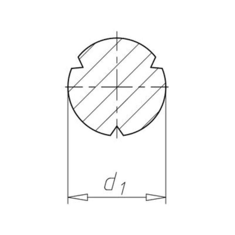 Halbrundkerbnägel ISO 8746 Stahl verzinkt 4 x 81000 Stück