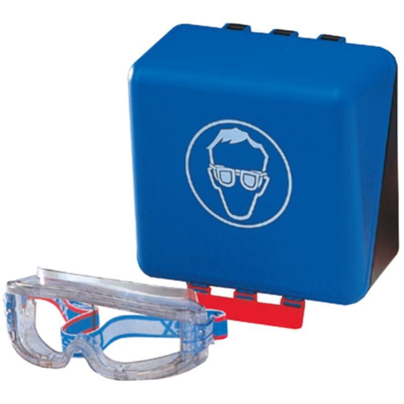 Sicherheits-Box für Brillen 236x120x120 mm blau