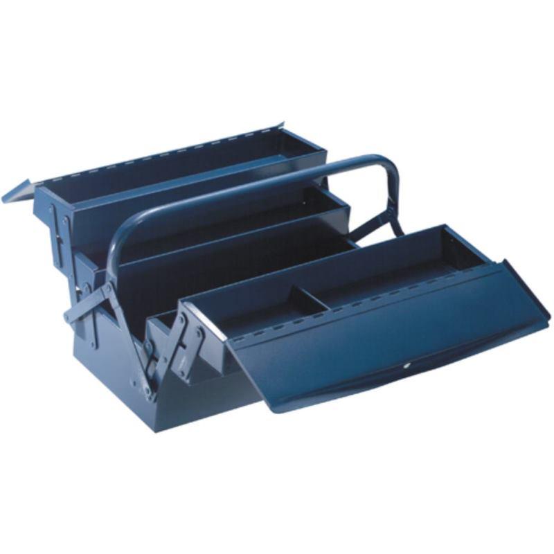 Werkzeugkasten 5-teilig 600 x 200 x 200 mm Hammerschlag blau