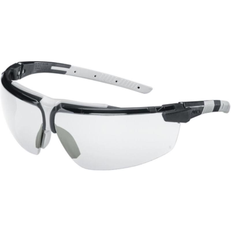 Schutzbrille i-3 verstellbare Bügel. Farbe schwarz/grau