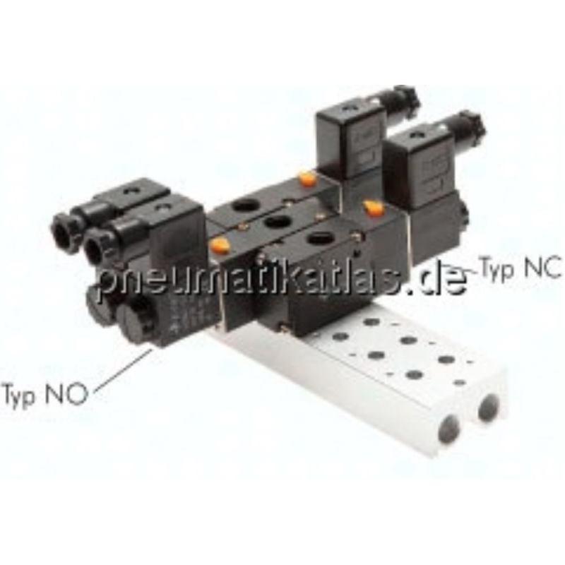 Mehrfachanschlussplatte (2- fach) für 3/2-Wege Ventile